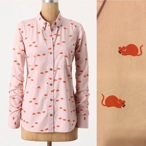 Anthropologie Odille button down shirt
